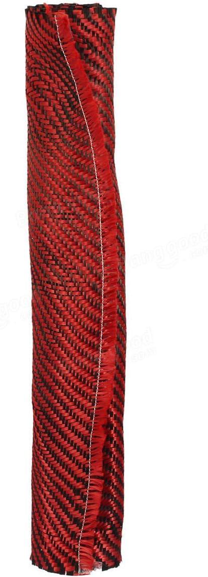 Carbon Fiber Cloth Black Red Fabric Twill Weave Panel Sheet 200gsm Raw Materials Fabrics Fibers /& Textiles 1 x Carbon Fiber Fabric