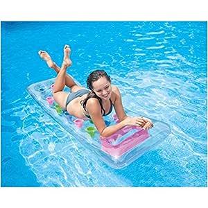 FAST WORLD SHOPPING colchón hinchable Colchón playa piscina con 18 ...