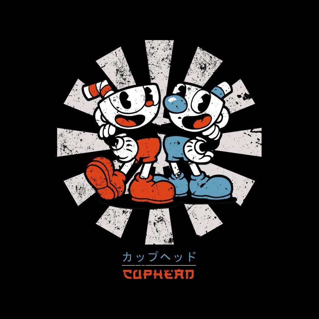 Cuphead Retro Japanese Mens T-Shirt