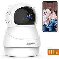 Apeman 1080P Telecamera Sorveglianza WiFi Interno, Videocamera IP Wireless,Visione Notturna a Infrarossi, Audio Bidirezionale, Per Baby Monitor, Sensore di Movimento Pan/Tilt