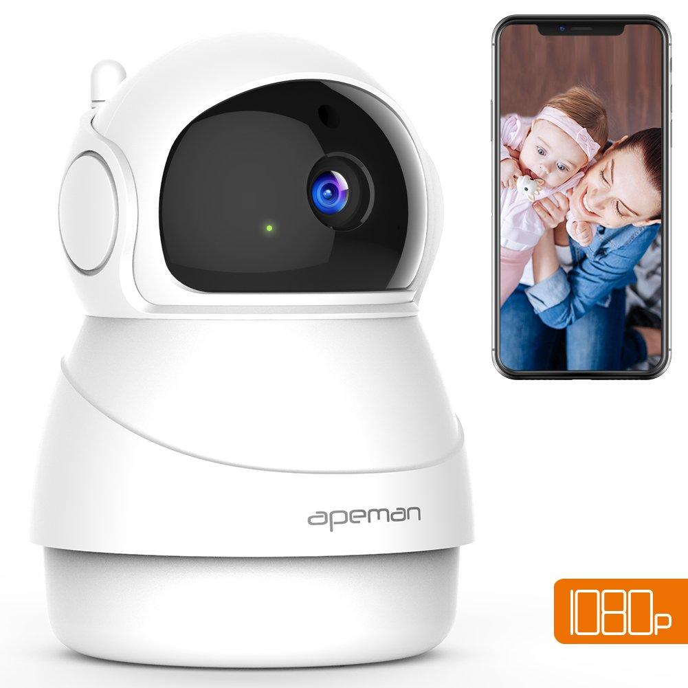 Apeman 1080P IP Cámara WiFi,Cámara de Vigilancia Seguridad para casa con Visión Nocturna,