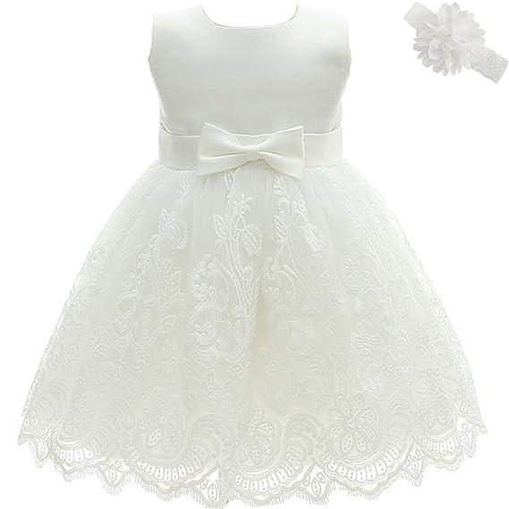 AHAHA Baby Girl Princess Wedding Dresses Baptism Christening Baby ...