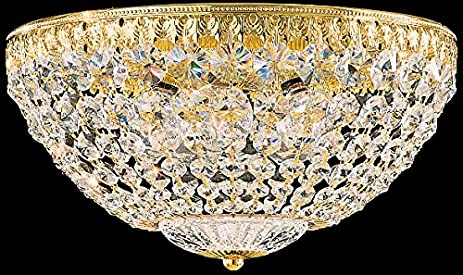 Schonbek 1562-76A Swarovski Lighting Petit Crystal Flush Mount Lighting Fixture Heirloom Bronze  sc 1 st  Amazon.com & Schonbek 1562-76A Swarovski Lighting Petit Crystal Flush Mount ...