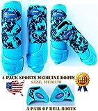 Horse Medium Professional Equine Sports Medicine Splint Boots Bell Boots 4131D