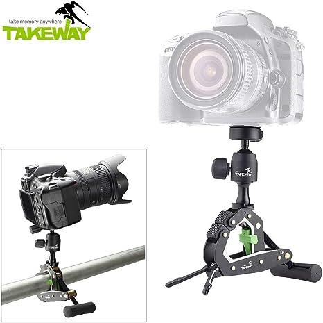 TAKEWAY T2 - Trípode con Pinza para cámaras réflex, videocámaras ...