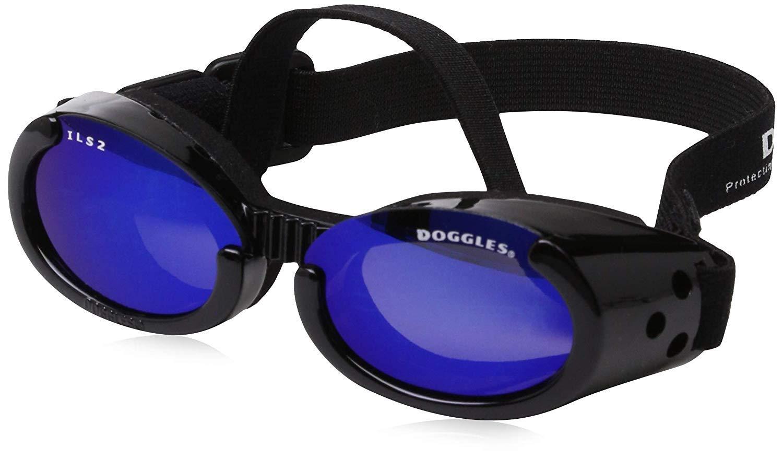 B0001VJD74 Doggles ILS Medium Metallic Black Frame and Smoke Lens 61qk40kYUKL