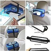 Car tissue paper box holder Auto rear seat headrest support Hold Clip Sun Visor Tissue Box Holder,Car Mount Organizer…