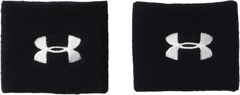 Under Armour UA 75cm Performance Wristband Pack de 2 Muñequeras para Hombre, Accesorios de Entrenamiento