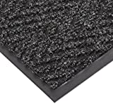 NoTrax T40 Chevron Heavier Weight Carpet Mat, for Wet and Dry Areas, 2' Width x 3' Length x 5/16'' Thickness, Charcoal