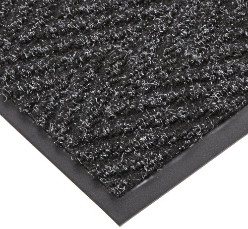 NoTrax T40 Chevron Heavier Weight Carpet Mat, for Wet and Dry Areas, 2' Width x 3' Length x 5/16'' Thickness, Charcoal by NoTrax Floor Matting