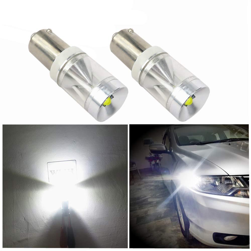 WLJH 2 x Canbus 500 lm 9 W sin error Ba9s T4W luz LED para interior de coche luz de d/ía indicadora de marcha atr/ás placa de estacionamiento