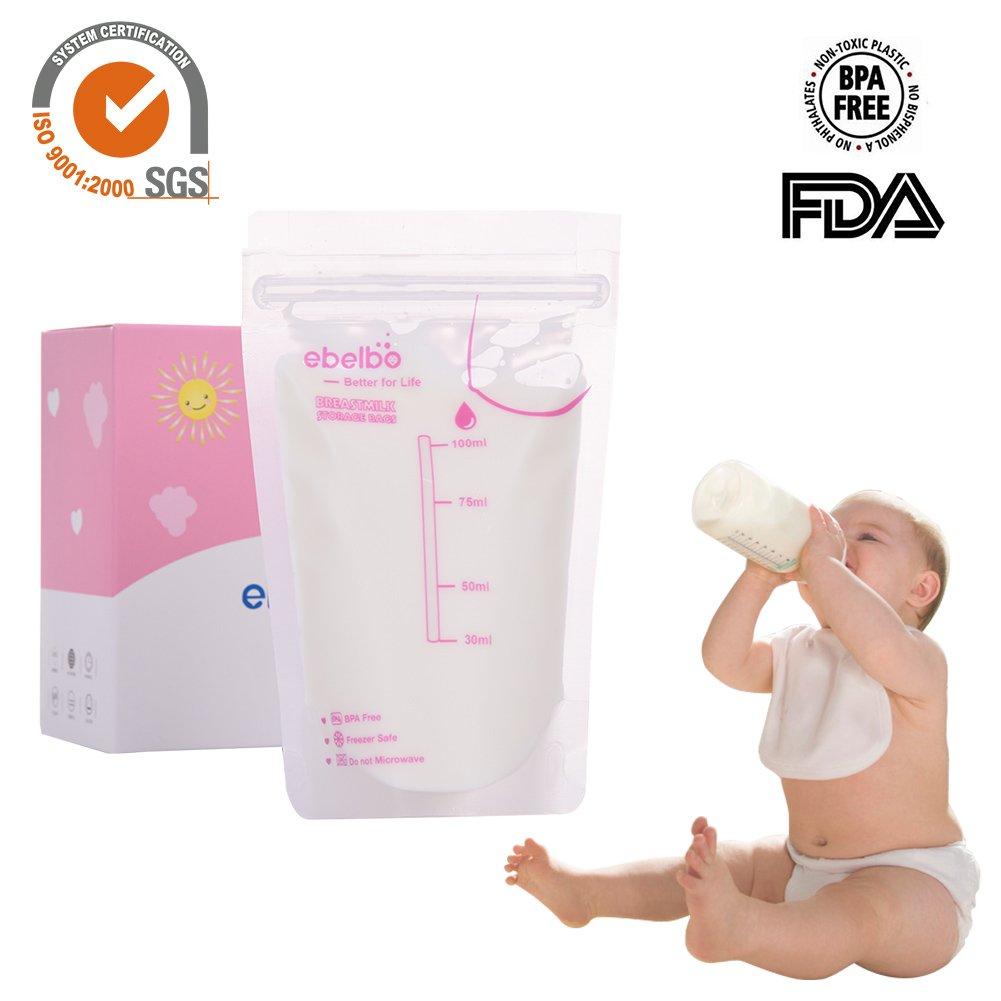 iBaste Muttermilchbeutel 30 stücke 100 ml Muttermilch Aufbewahrungsbeutel Gefrierschrank Aufbewahrungsbeutel Taschen iBaste_X