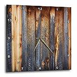 3dRose dpp_124675_3 Brown Barn Wood Look Wall Clock, 15 x 15 For Sale