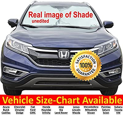 Windshield Sun Shade Find Your Vehicle's Size in SIZE-CHART for Popular Make & Models