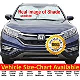 Windshield Sun Shade for Car Windshield 170TNylon Car Windshield Shade VEHICLE SIZE-CHART AVAILABLE Medium 69