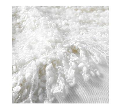 Ikea OFELIA manta, suave manta de lana Bland blanco 67 x 129,54 cm Camilla de mantas: Amazon.es: Hogar