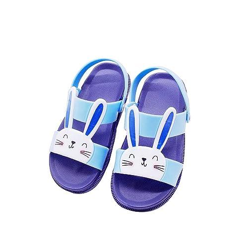 8cc050021c8c IUU Cute Little Kids Sandals Bath Slippers Non-Slip Sandals EVA House  Slippers Beach Flip