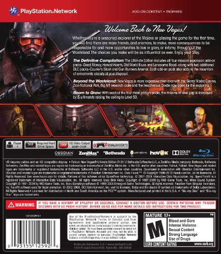Fallout New Vegas Playstation 3 Ultimate Edition