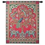 Fine Art Tapestries Asian Elephants Wall Tapestry 6456-WH 53 inches wide by 67 inches long, 100% cotton