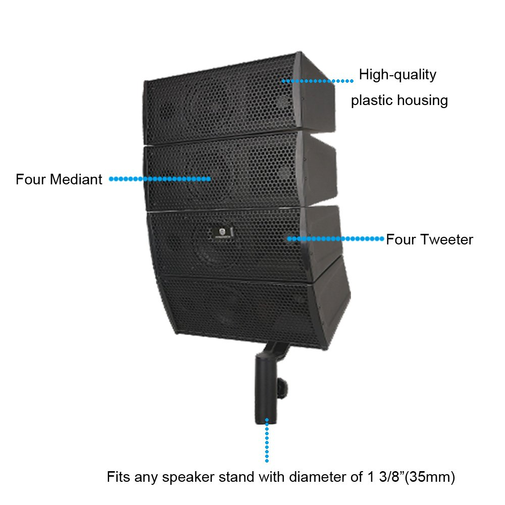 Fine Amazon Com Proreck Club A 4X4 Passive Line Array Speaker System Wiring Digital Resources Indicompassionincorg