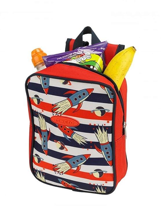 Micro Bag, Mochila Térmica Adaptable a Patinete/Bicicleta para Desayuno, Comida, merienda … (Rocket)
