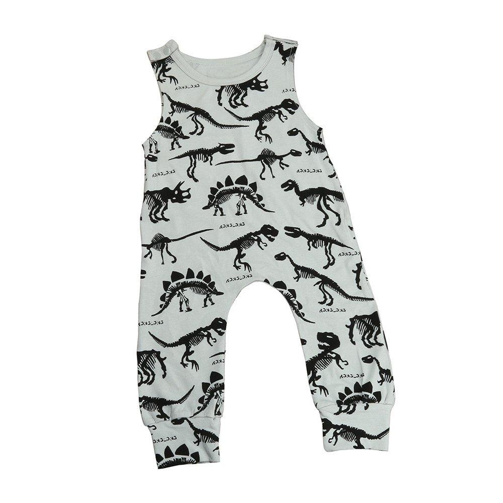 Fulltime Baby Romper, (TM) Kids Baby Boy Girl Print Jumpsuit Romper Outfits HYM70427323
