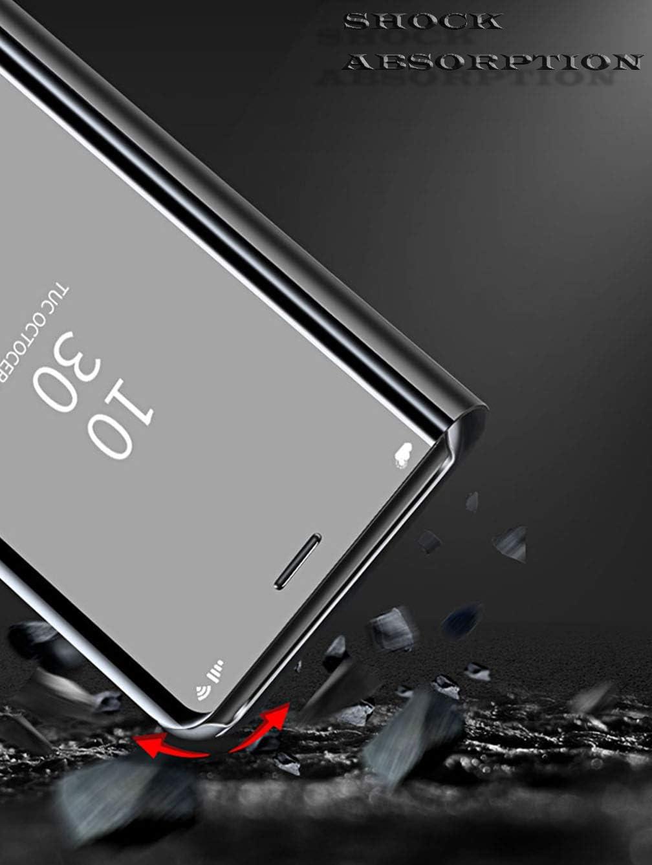 Bleu ColiColi Coque pour Huawei Mate 20X Antichoc 360 Bumper Smart Phone Etui /à Rabat Clear View Miroir Mirror Translucide Housse Mince Stand Magn/étique PU Cuir Cover pour Huawei Mate 20X