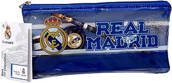 Real Madrid Estuche portatodo con Material Escolar: Amazon.es: Juguetes y juegos