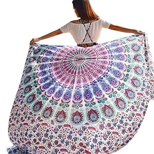 Rumas® Beach Cover Up Bikini Boho Summer Dress Swimwear Bathing Suit Kimono Tunic (Carole Floral Tunic)