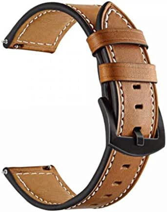 For 22mm Quick Release Leather Band,Compatible with Huawei Watch GT Wrist Bands for Women Men Smartwatch