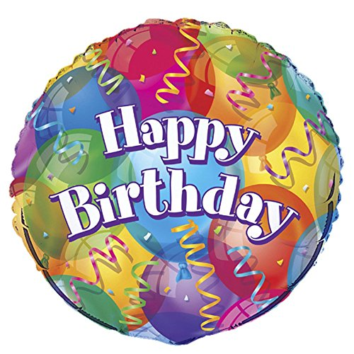 18'' Foil Brilliant Birthday (18' Happy Birthday Foil Balloon)