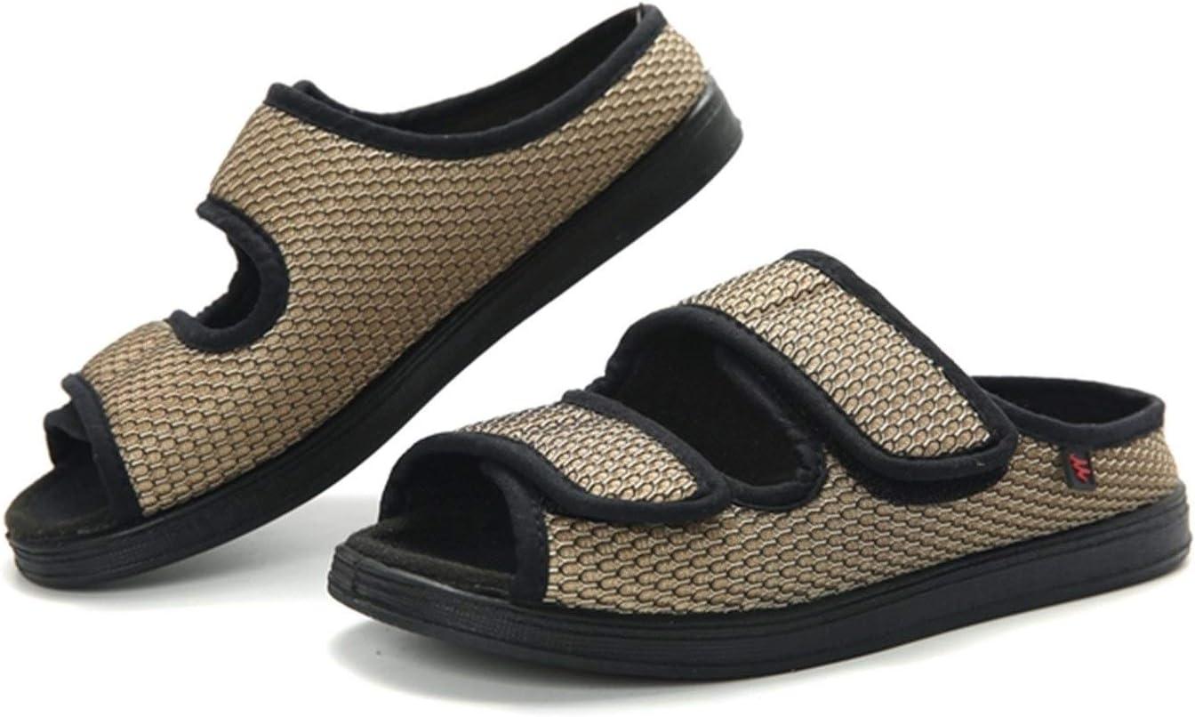 Zapatillas ortopédicos for las mujeres Unisex Amoi hallux valgus crecientes ajustable zapatillas de tela hinchazón del pie, ancho y sanos zapatos deformación de grasa de enfermería suave y cómodo