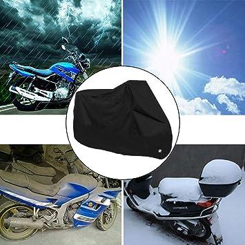 housesweet Color Negro Funda Impermeable para Motocicleta con Orificios de Bloqueo