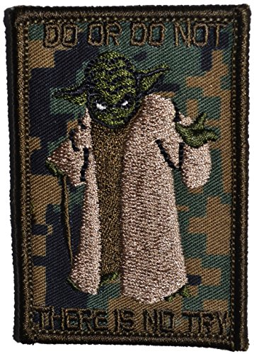 Yoda DO OR DO NOT - 3X2 Morale Patch (Woodland Digital Marpat) -