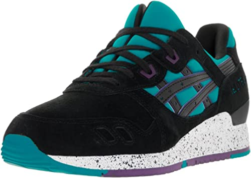 Asics Tiger Gel Lyte III 3 Black Light Blue Suede Classic