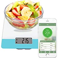Nutrition scale, Easy@Home Digital Food Kitchen Scale with Smart nutrition calculator APP – Weight, Calories, Fat, Cholesterol, Carbohydrates - Diet Nutrient Diary Feature…