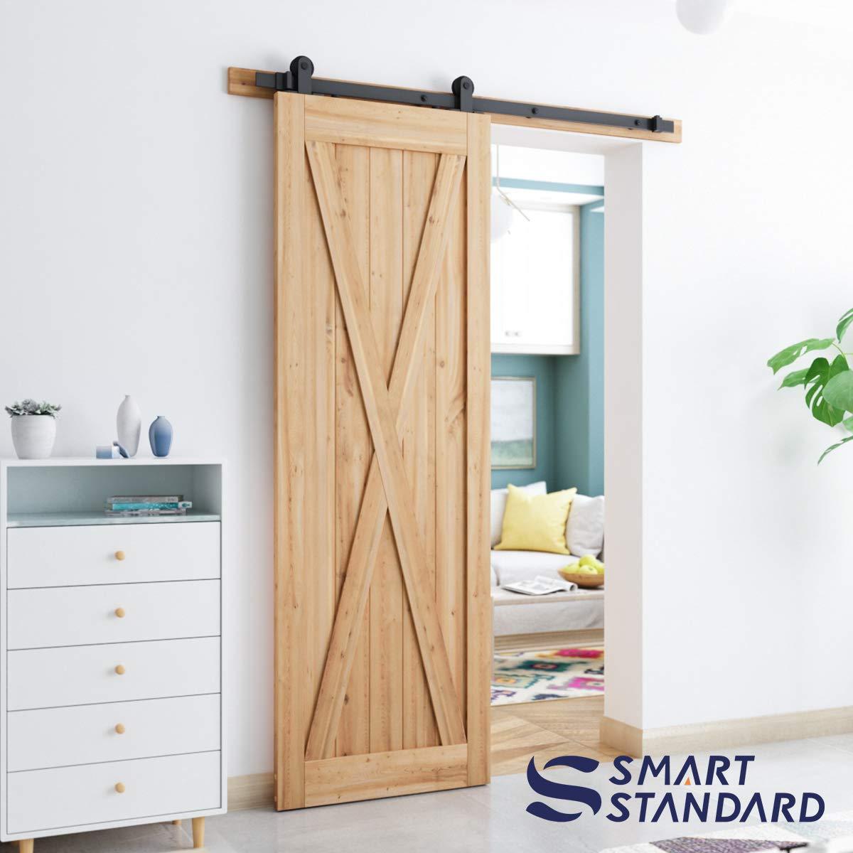 T Shape Hangers Black SMARTSTANDARD Sliding Barn Door Hardware Hangers 2pcs