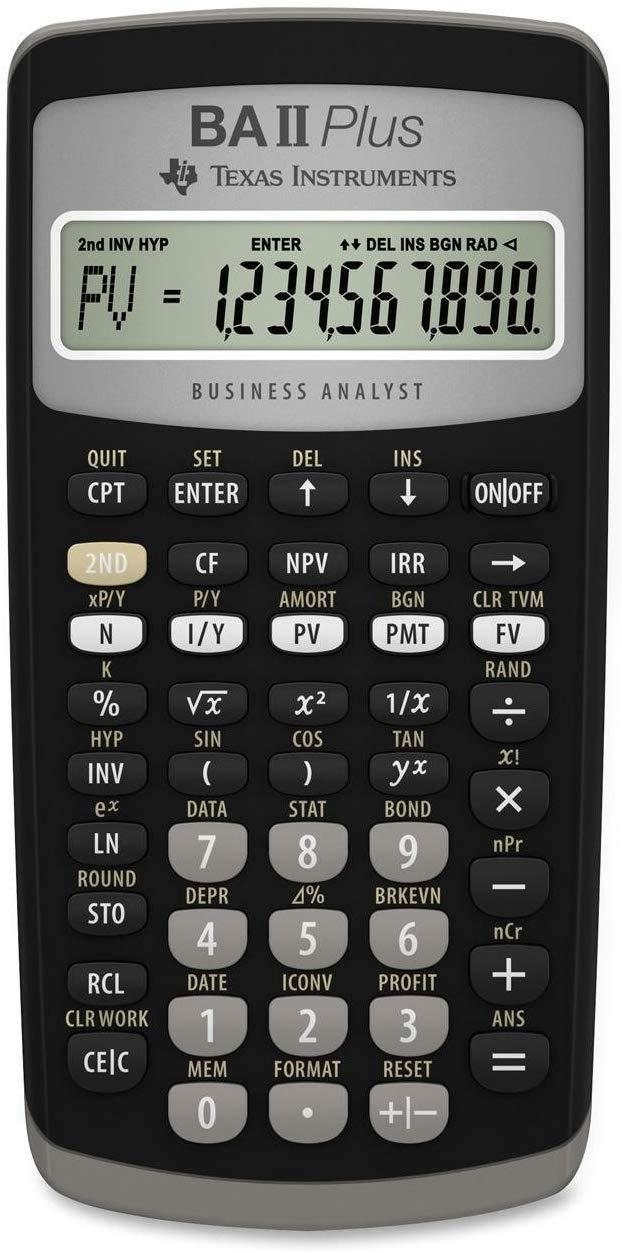 TEXBAIIPLUS - BAIIPlus Financial Calculator