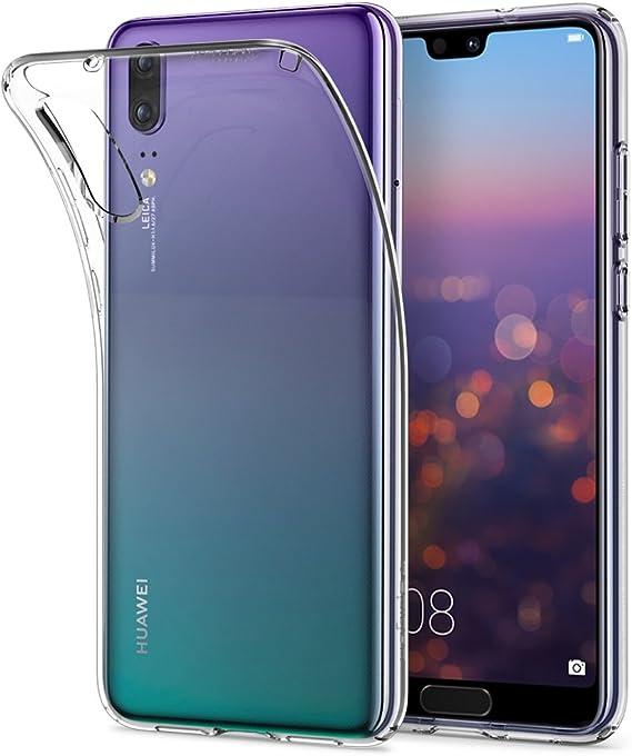 Spigen Coque Huawei P20, [Liquid Crystal] [ Transparente Souple Silicone ] Coque Housse Etui pour Huawei P20 (L21CS23081)
