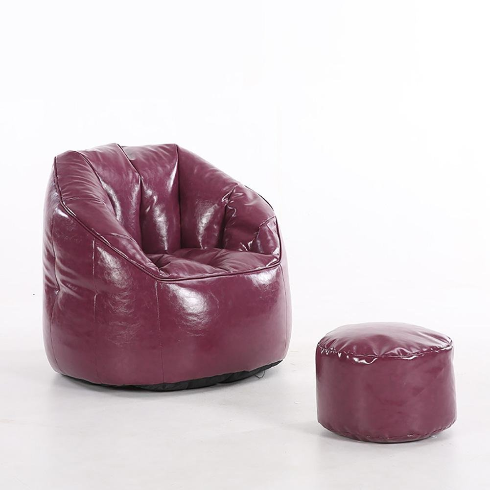 KSUNGB Lounger Sofa Dorm room Bed Fold Chair Backrest chair Bay window chair Foldable Lounge sofa chair, purple