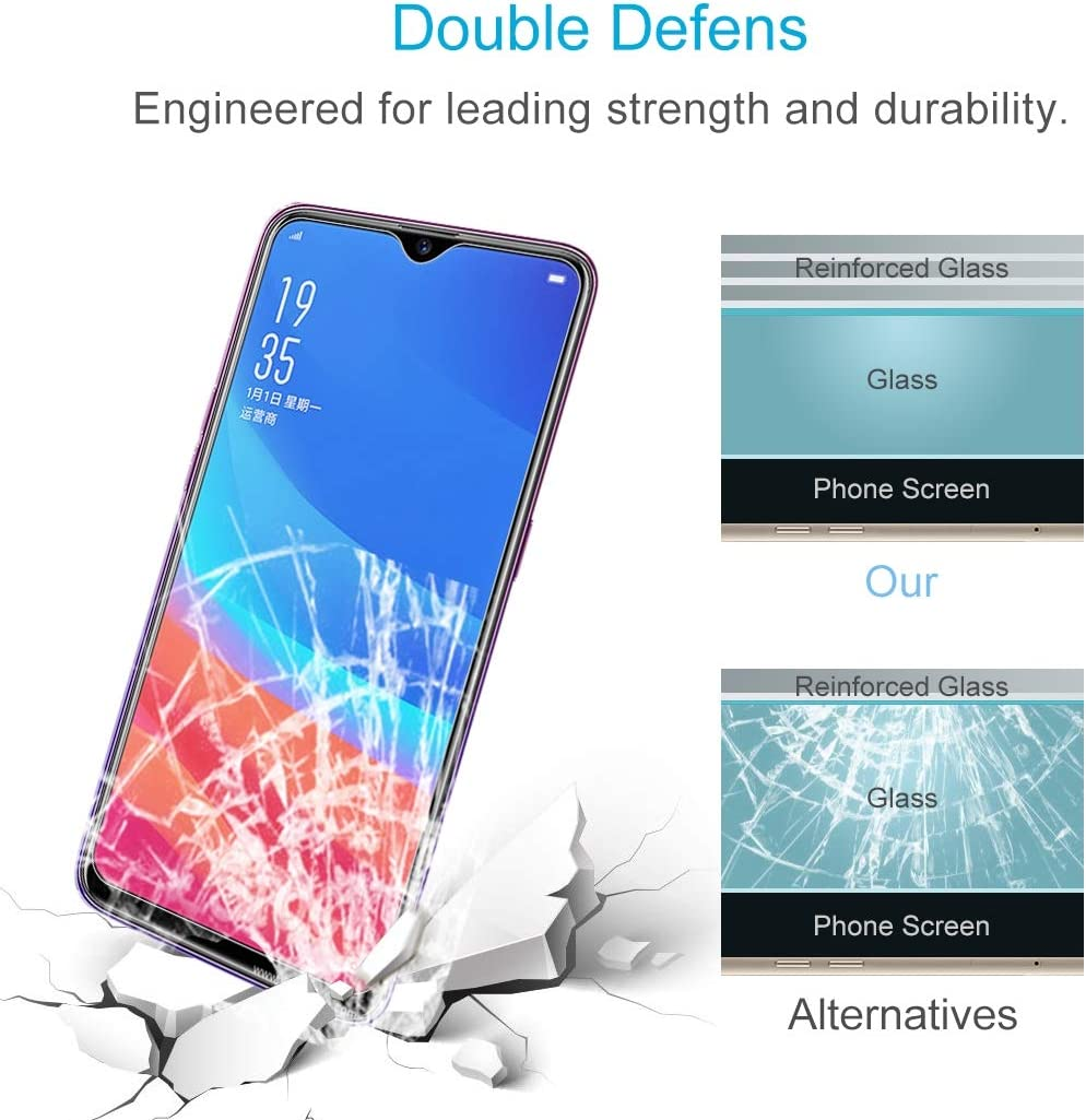 F9 Pro Screen Protector for Oppo F9 YSH Cell Phone Accessories 100 PCS 9H 2.5D Tempered Glass Film for Oppo A7x