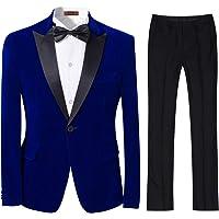 Cloudstyle Mens 2-Piece Suit Peaked Lapel One Button Tuxedo Slim Fit Dinner Jacket & Pants