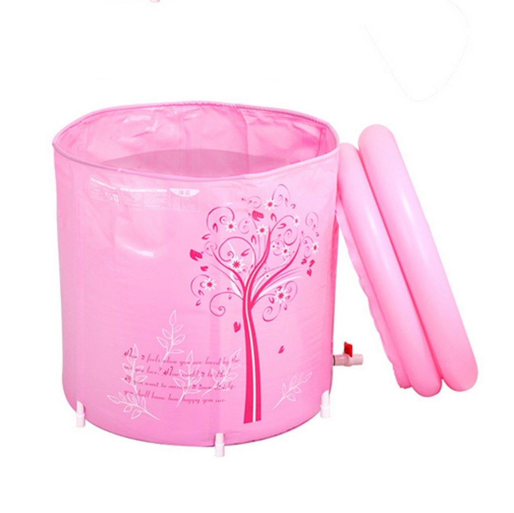 Meters Baignoire pliante baignoire baignoire adulte plastique gonflable Couleur : Rose