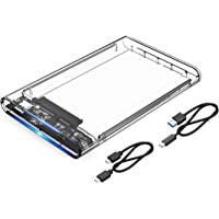 ORICO 2.5'' Transparent Type-C Hard Drive Enclosure Type-C to SATA3.0 for SSD/HDD, USB3.1 Gen2 10Gbps UP to 4TB