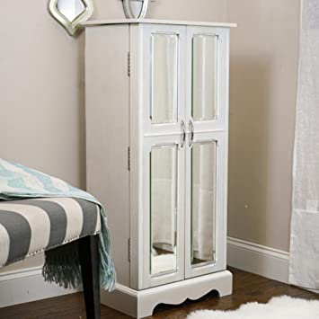 Amazon.com: Hives And Honey Chelsea Jewelry Armoire With Mirror ...