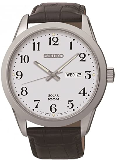 Reloj Seiko Solar Sne371p1 Hombre Blanco