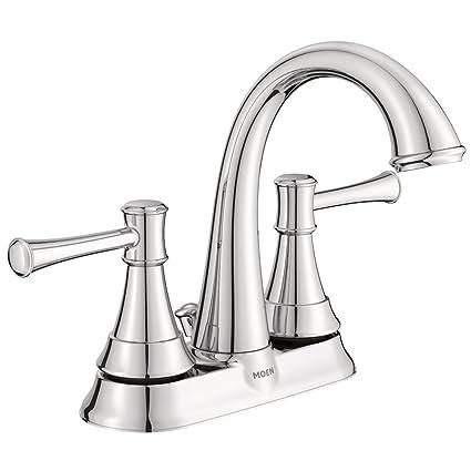 Moenh|#Moen WS84777 Moen Ashville Centerset 2 Handle Bathroom Faucet, 4 Inch