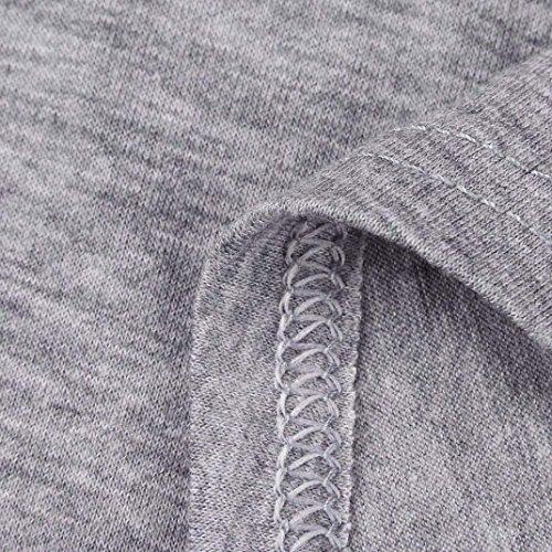 a da irregolare Gaddrt scollo misure top Plus tee V Grey donna orlo t a corte sciolto shirt maniche con casual qPwIEw