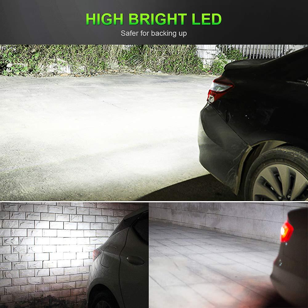 Feux de Stationnement Arri/ère Feu de Recul 12V 6000K Blanc 2 Pi/èces T20 W21W 7443 Ampoules CREE LED