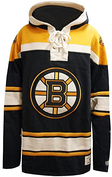 Old Time Hockey NHL Boston Bruins Lacer Fleece Hoody Hoodie Sweater Herren  Mens  Amazon.ca  Clothing   Accessories 4a46fc0df40